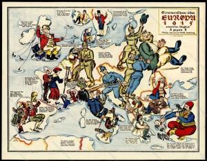 Sommerschau über EUROPA 1915 - 3 gegen 8