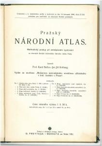 Pražský Národní atlas - obsah