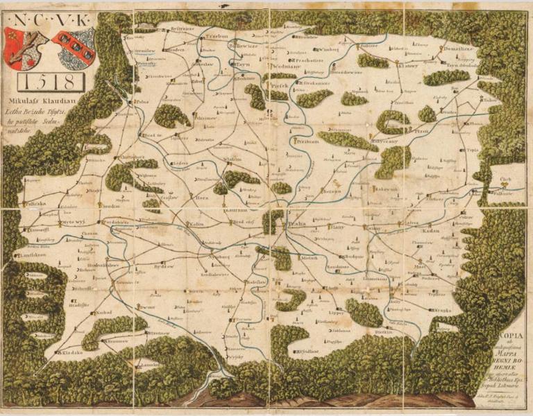 Klaudyánova mapa Čech - kopie