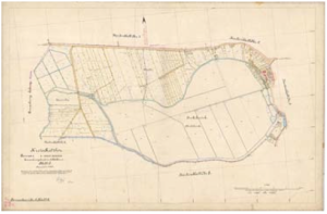 Originální mapa pruského katastru