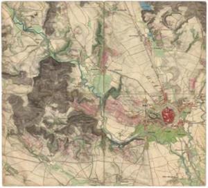 Mapa Brna a okolí
