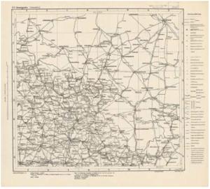 Vojenská pochodová mapa rakousko-uherské monarchie