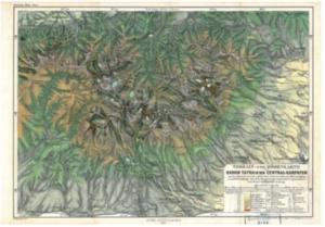 Kořistkova mapa Vysokých Tater