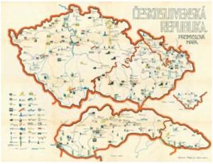 Hospodářská mapa Československa