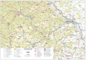 Mapa obcí s rozšířenou působností v měřítku 1 : 50 000