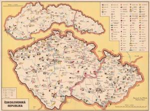 Obr. 12: Mapa ČESKOSLOVENSKÁ REPUBLIKA (zmenšeno)