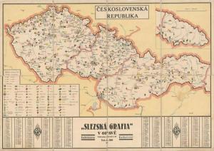 Obr. 16: Mapa ČESKOSLOVENSKÁ REPUBLIKA (zmenšeno)