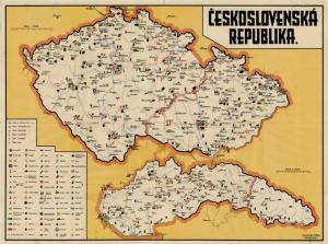 Obr. 17: Mapa ČESKOSLOVENSKÁ REPUBLIKA. (zmenšeno)
