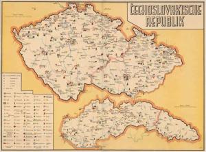 Obr. 18: Mapa ČECHOSLOVAKISCHE REPUBLIK (zmenšeno)
