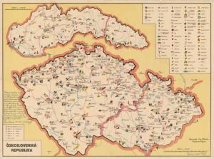 Obr. 20: Mapa s vlastním přípisem Jana Přibyly (zmenšeno)